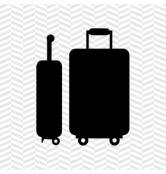 Suitcases isolated design vector