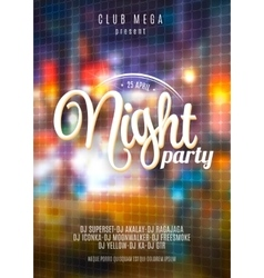 Flyer template for night party premium vector
