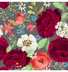 Seamless pattern with beautiful peonies vector