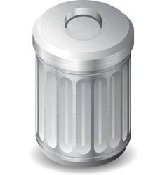Icon for garbage can vector