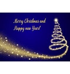 Abstract Christmas tree vector image