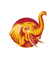 Angry african elephant vector