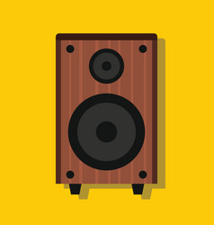 audio speaker in flat style with shadow vector image vector image