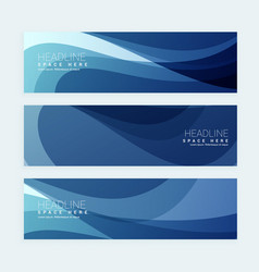 Blue business banners set vector