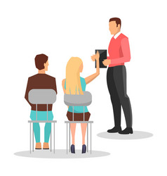 business training employees vector image vector image
