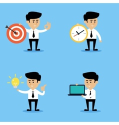 Businessman concepts set vector image