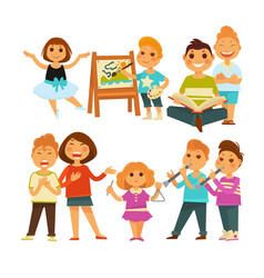 Children kindergarten or school playing activity vector