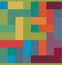 Colorful brick geometric pattern abstract vector