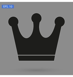 Crown Icon in trendy flat style isolated on grey vector image vector image