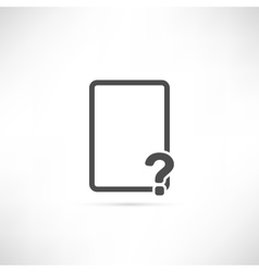 Empty Question Icon vector image