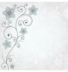 Gentle winter background vector