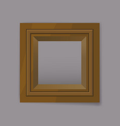 Gold metal square frame blank vector