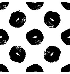 hand drawn brush ink grunge black and white vector image vector image