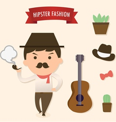 hipster1 vector image vector image
