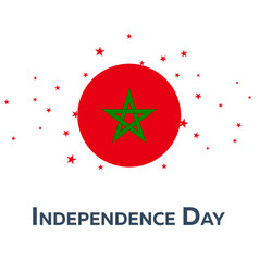 independence day of morocco patriotic banner vector image