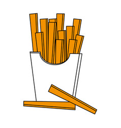 Isolated fast food french fries icon vector
