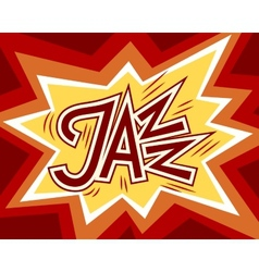 Jazz word vector image