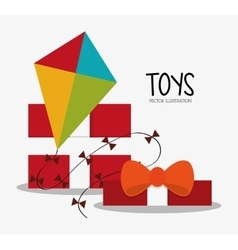 Kite toy and game design vector image vector image