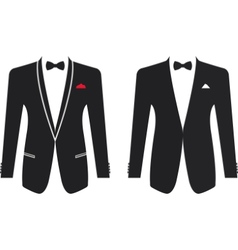 Men formal suit on a white background vector image vector image