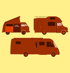 Motorhome Silhouette vector image vector image