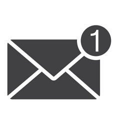 new message solid icon email and website button vector image vector image