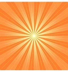 Orange sunbeam blank background vector image
