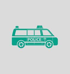 Police van icon vector