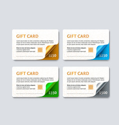 Set of gift discount cards vector