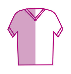 t-shirt male isolated icon vector image