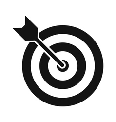 Target with dart black simple icon vector