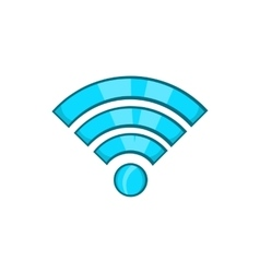 Wi-fi icon cartoon style vector image