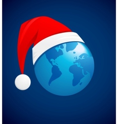 world christmas ball background vector image