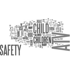 Youth atv safety text word cloud concept vector