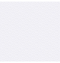 White Seamless Pattern in Arabian style vector image