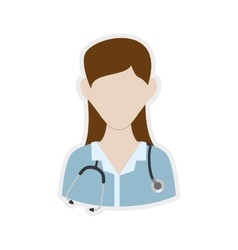 Nurse woman icon medical care design vector