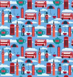 Background with london landmarks and britain vector