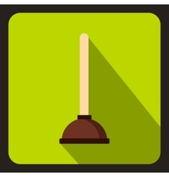 Cup plunger icon flat style vector