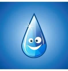 Happy water drop vector image