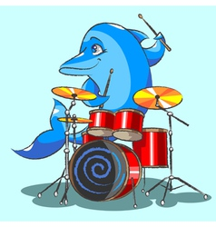 The dolphin is the jazz the drummer vector
