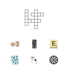 Flat icon play set of ace guess multiplayer and vector