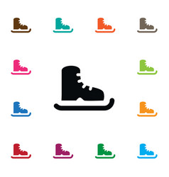isolated ice boot icon skating element can vector image