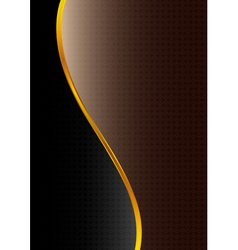 Abstract black brown background vector image