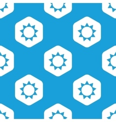 Sun hexagon pattern vector