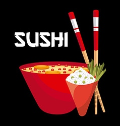 Japanese food vector
