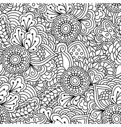 Seamless black and white background vector