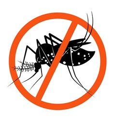 Prohibition sign for stop mosquito vector