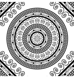 Round ornamental geometric doily pattern vector