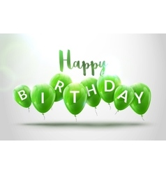 Happy birthday balloons celebration birthday vector