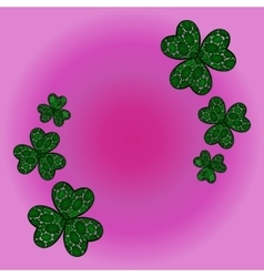 Clover shamrock as a symbol of holiday st patrick vector
