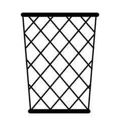 A wastebasket is placed vector image vector image